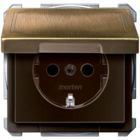 Розетка Merten System Design Античная латунь MTN2310-4143 IP20
