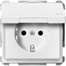 Розетка Merten System Design Белый MTN2314-4019 IP44