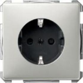 Розетка Merten System Design Сталь MTN2300-4146 IP20