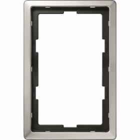 Рамка 1,5-ая Merten Artec Сталь MTN481946 IP20