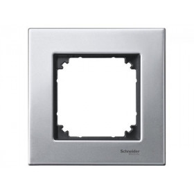 Рамка 1-ая Merten M-Elegance Платина-Серебро MTN403160 IP20