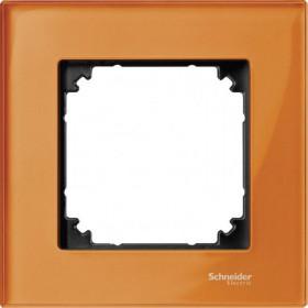 Рамка 1-ая Merten M-Elegance Оранжевый Кальцит MTN404102 IP20