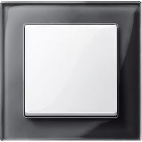Рамка 1-ая Merten M-Elegance Черный Оникс MTN404103 IP20