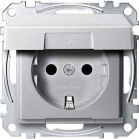 Розетка Merten System Design Алюминий MTN2310-0460 IP20