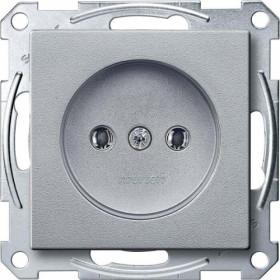 Розетка Merten System Design Алюминий MTN2001-0460 IP20