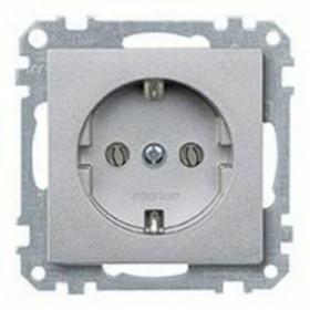 Розетка Merten System Design Алюминий MTN2300-0460 IP20