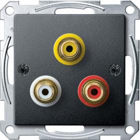 Розетка Merten System Design Алюминий MTN4351-0414 IP20