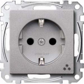 Розетка Merten System Design Алюминий MTN2301-0460 IP20