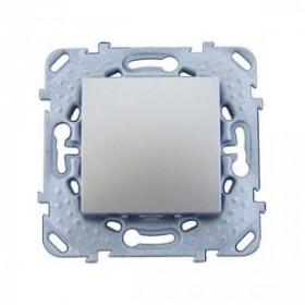 Выключатель Schneider Electric Unica Алюминий MGU5.201.30ZD IP20 одноклавишный