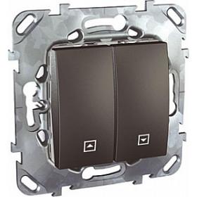 Выключатель Schneider Electric Unica Графит MGU5.207.12ZD IP20 для жалюзи нажимной