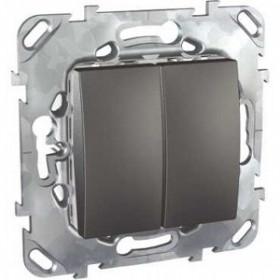 Выключатель Schneider Electric Unica Графит MGU5.211.12ZD IP20 двухклавишный