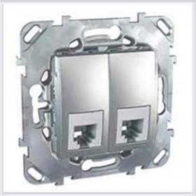 Розетка Schneider Electric Unica Top Алюминий MGU5.9090.30ZD IP20 RJ 11