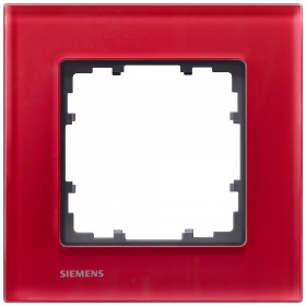 Рамка 1-ая Siemens Delta Miro Стекло красное 5TG12013 IP20