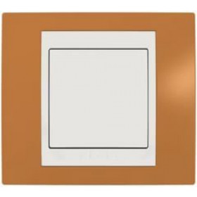 Рамка 1-ая Schneider Electric Unica Хамелеон Оранжевый/Бежевый MGU6.002.569 IP20