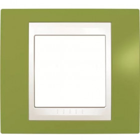 Рамка 1-ая Schneider Electric Unica Хамелеон Фисташковый/Белый MGU6.002.866 IP20