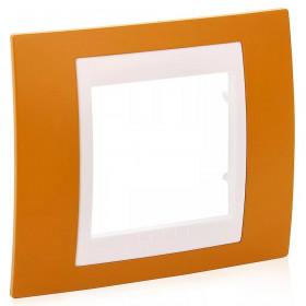 Рамка 1-ая Schneider Electric Unica Хамелеон Оранжевый/Белый MGU6.002.869 IP20