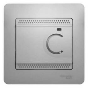 Термостат Schneider Electric Glossa Алюминий GSL000338 IP20 электронный теплого пола с датчиком с рамкой