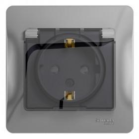 Розетка IP44 Schneider Electric Glossa скрытой установки Алюминий GSL000348