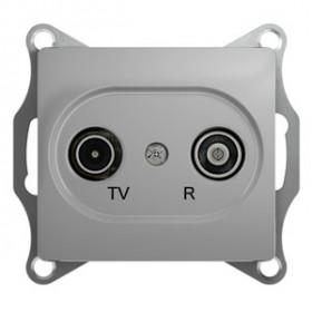 Розетка Schneider Electric Glossa Алюминий GSL000394 IP20 TV/R Одиночная