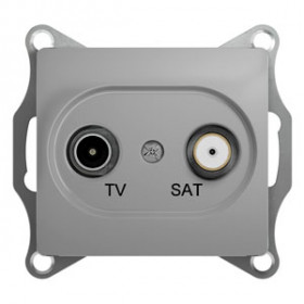 Розетка Schneider Electric Glossa Алюминий GSL000398 IP20 TV/SAT Проходная