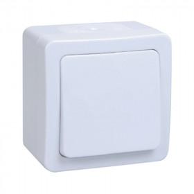ВС20-1-0-ГПБ Выключатель IP54 одноклавишный IEK Гермес Plus Белый EVMP10-K01-10-54-EC