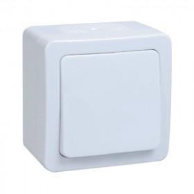 ВСп20-1-0-ГПБ Выключатель одноклавишный с 2-х мест IP54 IEK Гермес Plus Белый EVMP12-K01-10-54-EC