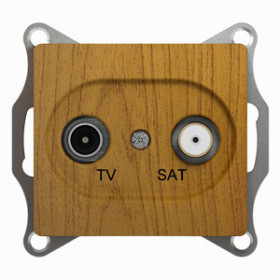 Розетка Schneider Electric Glossa Дуб GSL000597 IP20 TV/SAT Одиночная