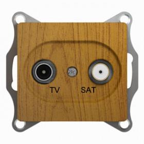 Розетка Schneider Electric Glossa Дуб GSL000598 IP20 TV/SAT Проходная
