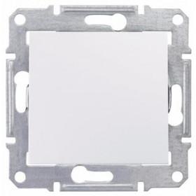 Выключатель одноклавишный IP44 скрытой установки Schneider Electric Sedna Белый SDN0100321