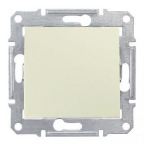 Выключатель одноклавишный IP44 скрытой установки Schneider Electric Sedna Бежевый SDN0100347