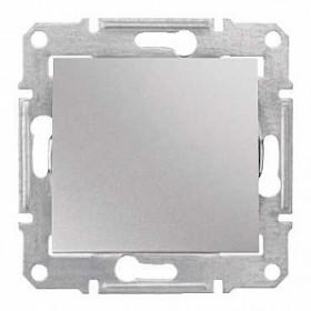 Выключатель одноклавишный IP44 скрытой установки Schneider Electric Sedna Алюминий SDN0100360