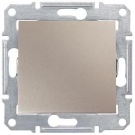 Выключатель одноклавишный IP44 скрытой установки Schneider Electric Sedna Титан SDN0100368