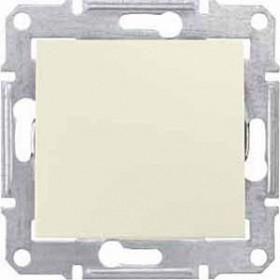Выключатель одноклавишный IP44 скрытой установки 2-х полюсный Schneider Electric Sedna Бежевый SDN0200347