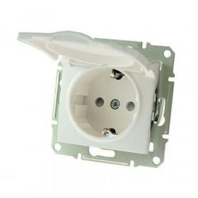 Розетка Schneider Electric Sedna Белый SDN3100121 IP44