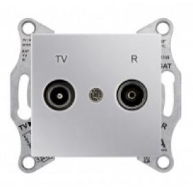 Розетка Schneider Electric Sedna Алюминий SDN3301860 IP20 TV/R Проходная