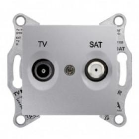 Розетка Schneider Electric Sedna Алюминий SDN3401960 IP20 TV/SAT Проходная