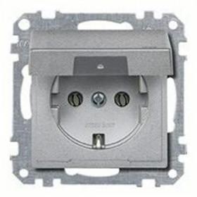 Розетка Merten System Design Алюминий MTN2311-0460 IP20