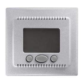 Термостат Schneider Electric Sedna Алюминий SDN6000360 IP20 теплого пола с датчиком