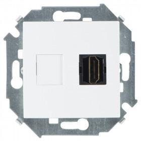 Розетка Simon 15 Белый 1591407-030 IP20 HDMI