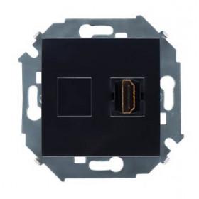 Розетка Simon 15 Черный 1591407-032 IP20 HDMI