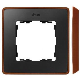 8201610-246 Рамка 1-ая Simon 82 Detail Select Графит-Основание Медь