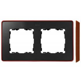 8201620-246 Рамка 2-ая Simon 82 Detail Select Графит-Основание Медь