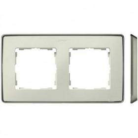 8201620-248 Рамка 2-ая Simon 82 Detail Select Слоновая кость-Основание Шампань