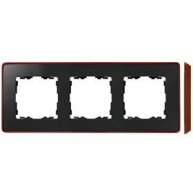 8201630-246 Рамка 3-ая Simon 82 Detail Select Графит-Основание Медь