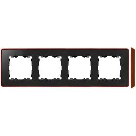 8201640-246 Рамка 4-ая Simon 82 Detail Select Графит-Основание Медь