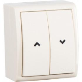 1594332-031 Выключатель для жалюзи с электрической блокировкой Simon 15 Aqua Слоновая кость IP54