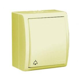 1594160-031 Нажимная кнопка Звонок с подсветкой Simon 15 Aqua Слоновая кость IP54