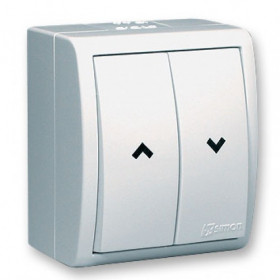 Выключатель для жалюзи с электрической блокировкой Simon 15 Aqua Белый IP54 1594332-030