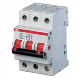 2CDE282001R0045 Выключатель нагrрузки(рубильник) модульный(E203r) 3-полюса 45A рычаг красный