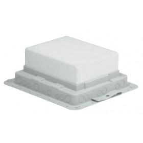 Монтажная коробка  для напольного лючка для заливки в бетон, 9 механизмов 45*45 мм 89631